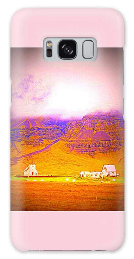 Mountains Galaxy S8 Case featuring the photograph We Are Living Hillside As We Used To Do, Feeling Safe by Hilde Widerberg