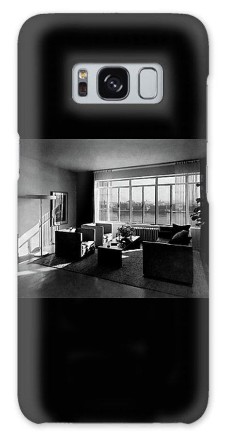 Cityscape Galaxy S8 Case featuring the photograph Living Room In The Ny Home Of Edward M. M by Emelie Danielson