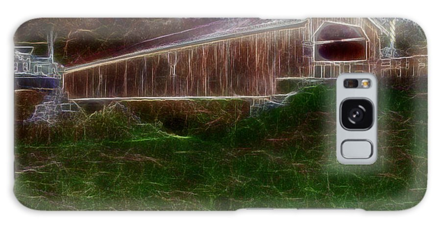 Bridge Galaxy S8 Case featuring the photograph Livingston Manor Covered Bridge - Featured In Comfortable Art Group by Ericamaxine Price
