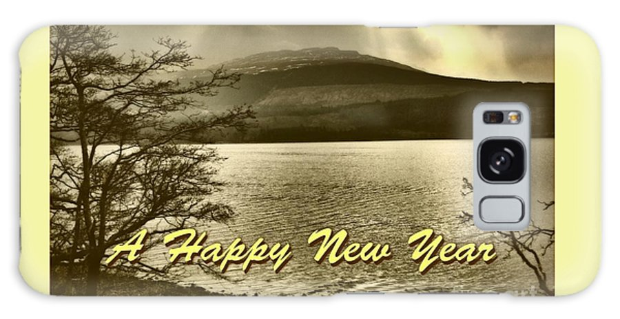 New Year Galaxy S8 Case featuring the photograph Loch Lomond New Year Greeting by Joan-Violet Stretch