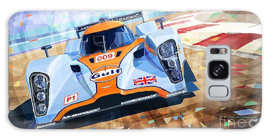 Automotive Galaxy S8 Case featuring the mixed media Lola Aston Martin Lmp1 Racing Le Mans Series 2009 by Yuriy Shevchuk
