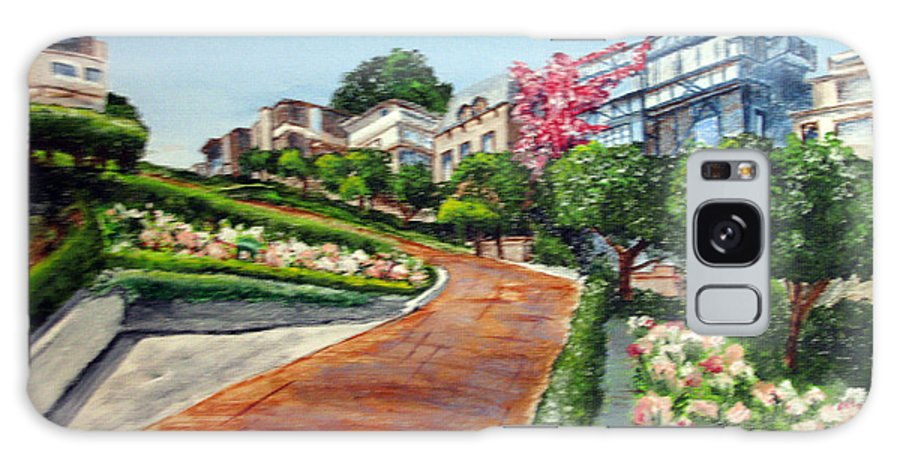 San Francisco Galaxy S8 Case featuring the painting Lombard Street by Nancie Johnson