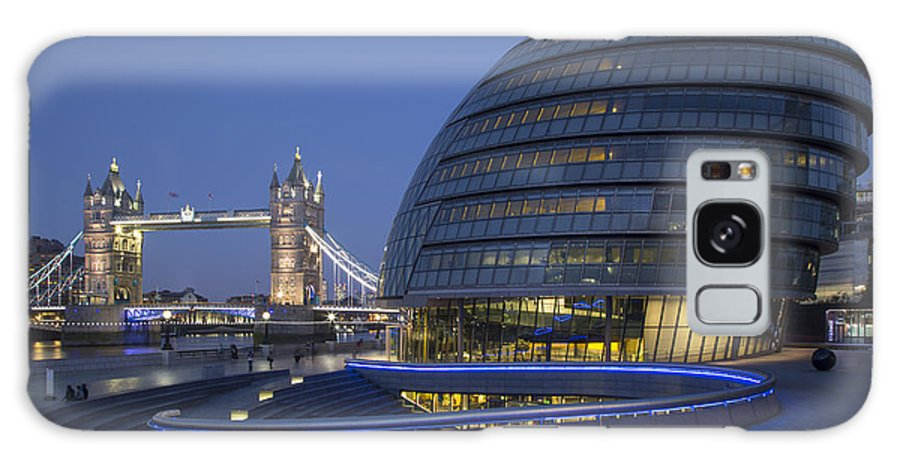 Architectural Galaxy Case featuring the photograph London City Hall - Tower Bridge by Brian Jannsen