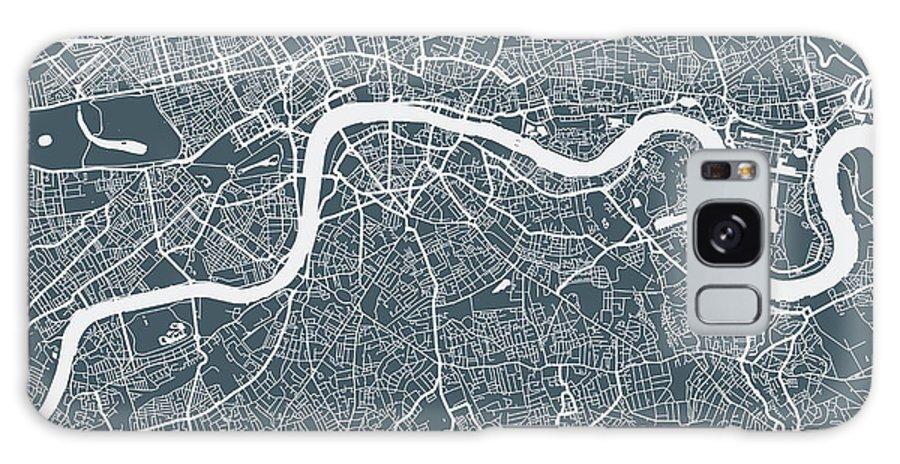 Art Galaxy Case featuring the digital art London City Map by Mattjeacock