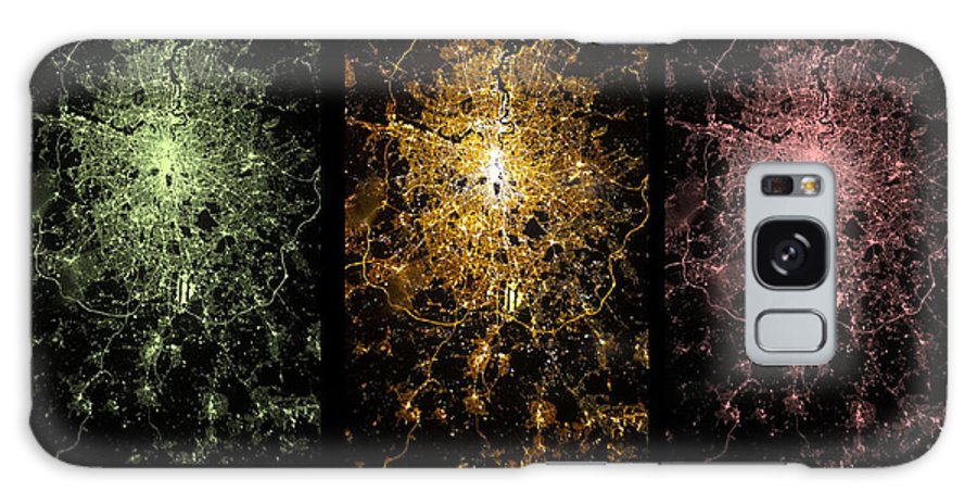 Japan Earth At Night Galaxy S8 Case featuring the photograph London From Space by Ahp