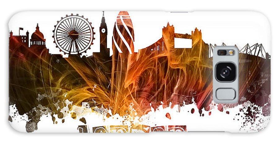 London England Skyline Galaxy S8 Case featuring the digital art London Skyline by Justyna JBJart