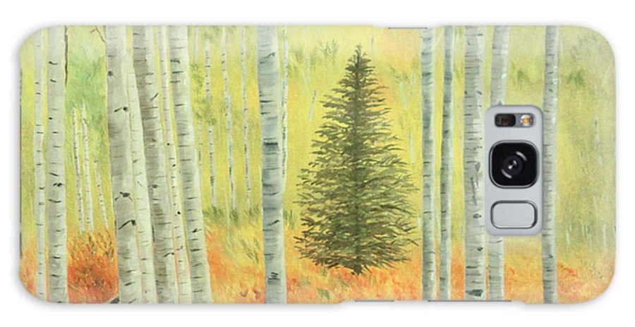 Pine Galaxy S8 Case featuring the painting Lone Pine by Vickie Black