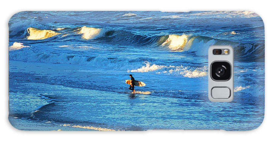 Surfing Galaxy S8 Case featuring the photograph Lone Surfer 1 by CHAZ Daugherty