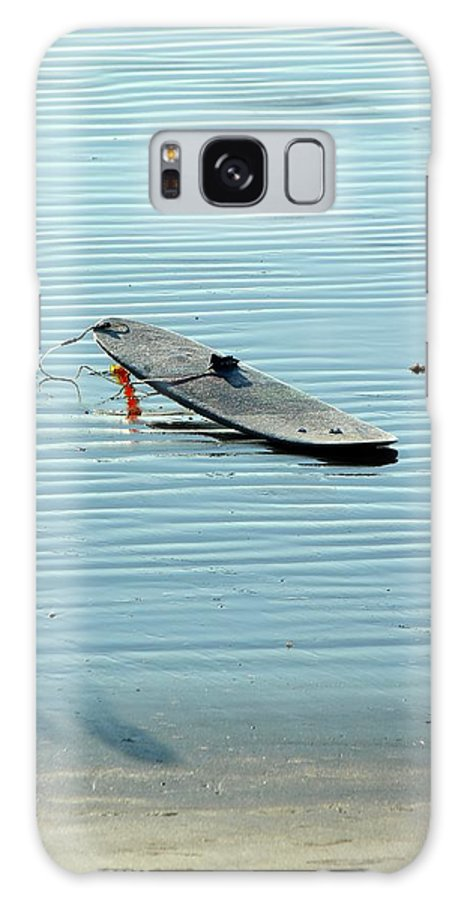 Surf Galaxy S8 Case featuring the photograph Lonely Board by Peggy Burley