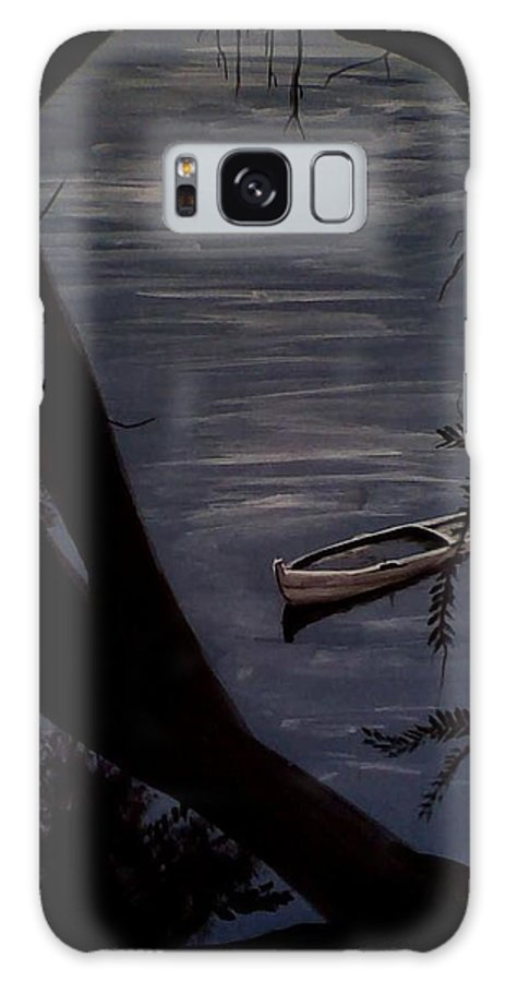 Boat Galaxy S8 Case featuring the painting Lonely Boat by Lefteris Skaliotis