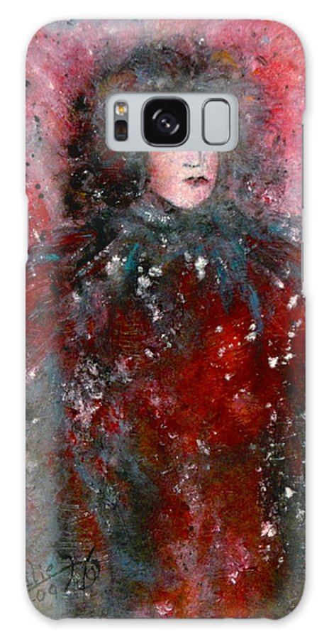 Millionairess Galaxy S8 Case featuring the painting Lonely Millionairess by Natalie Holland