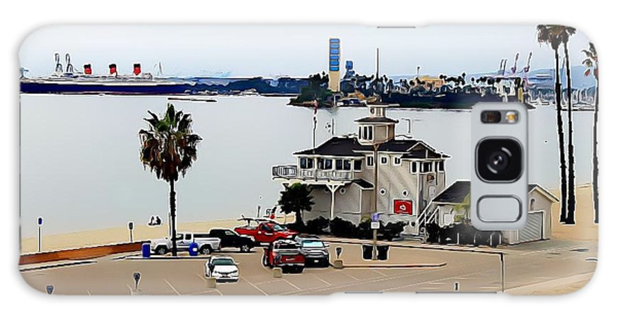 Landscape Galaxy S8 Case featuring the photograph Long Beach Bay California / Tintbrush Effect by Robert Butler