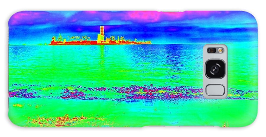 Landscapes Galaxy S8 Case featuring the photograph Long Beach Bay by Robert Butler