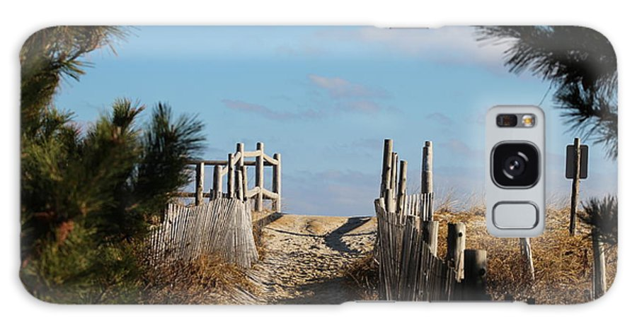 Lbi Galaxy S8 Case featuring the photograph Long Beach Island Walkway by Nance Larson