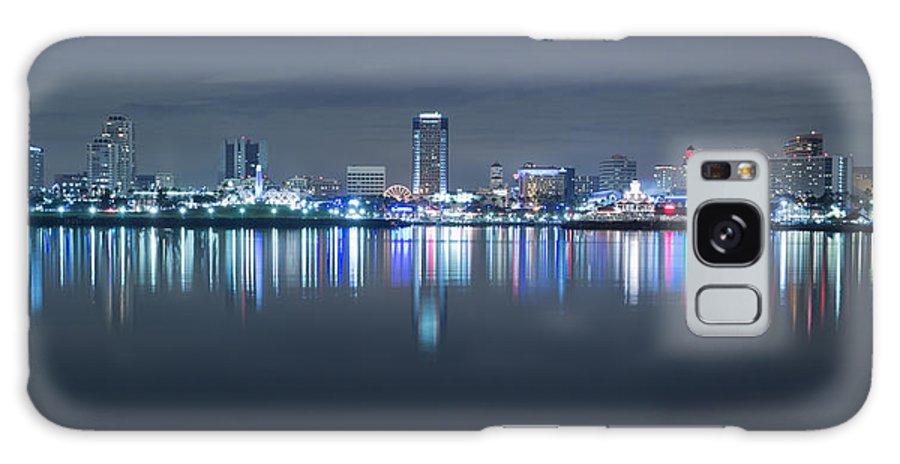 America Galaxy S8 Case featuring the photograph Long Beach Skyline by Heidi Smith