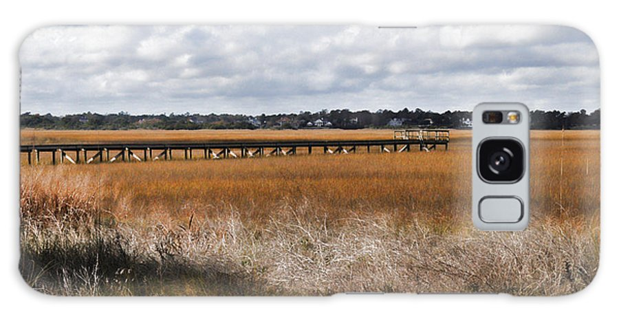 Wright Galaxy S8 Case featuring the photograph Long Marsh Dock by Paulette B Wright