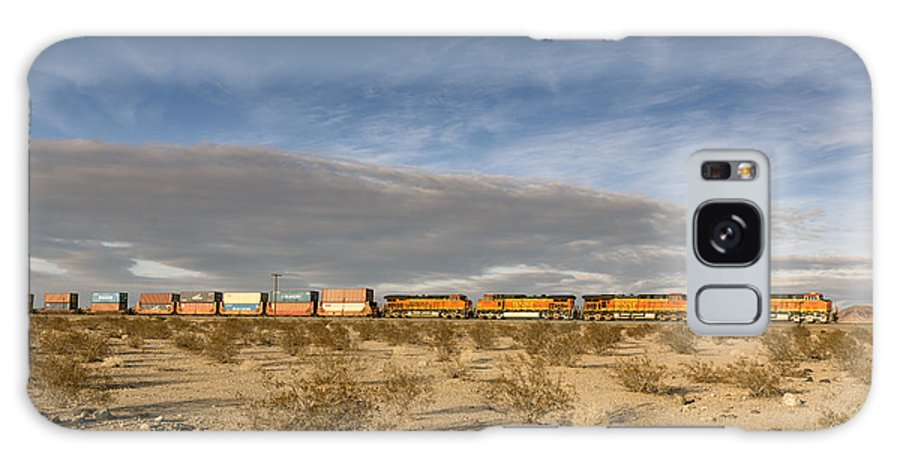 Barstow Galaxy S8 Case featuring the photograph Long Train Near Barstow by Carol M Highsmith