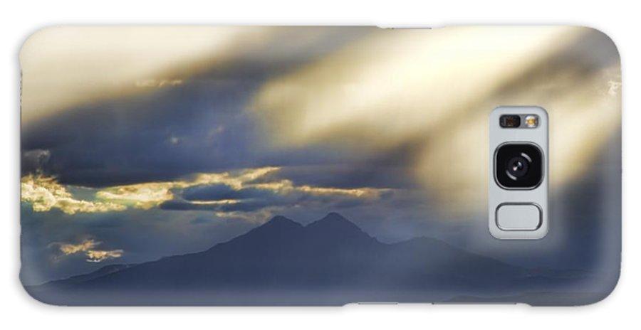 Longs Peak Galaxy S8 Case featuring the photograph Longs Peak Through Smoke by Jon Burch Photography
