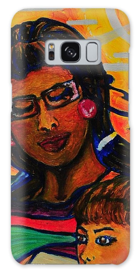 Woman Galaxy S8 Case featuring the painting Looked Over by Arianne Lequay