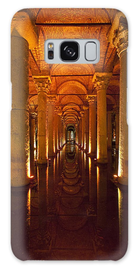 Cumming Galaxy S8 Case featuring the photograph Looking Along Row Of Columns by Ian Cumming