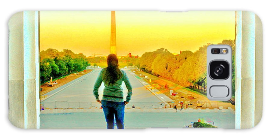 Washington Dc Galaxy S8 Case featuring the photograph Looking At The Pool by David Call