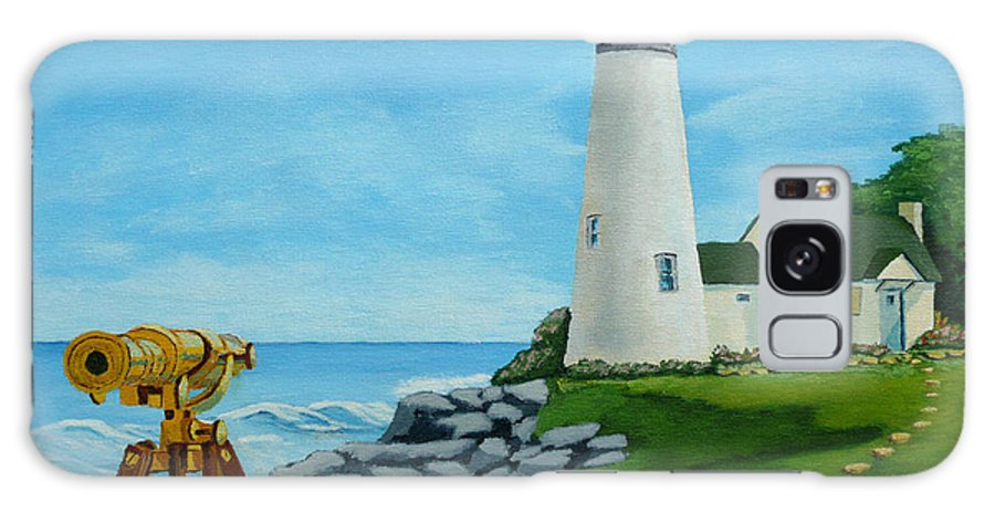 Lighthouse Galaxy S8 Case featuring the painting Looking Out To Sea by Anthony Dunphy