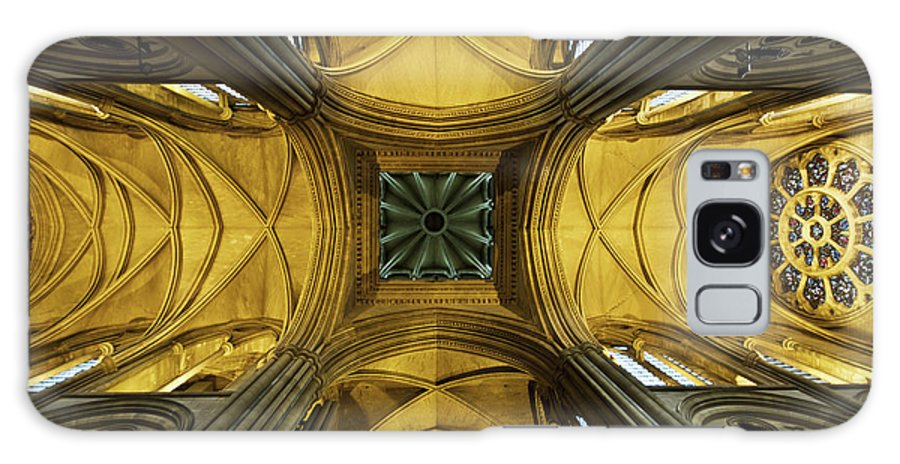 Arch Galaxy Case featuring the photograph Looking Up At A Cathedral Ceiling by James Ingham / Design Pics
