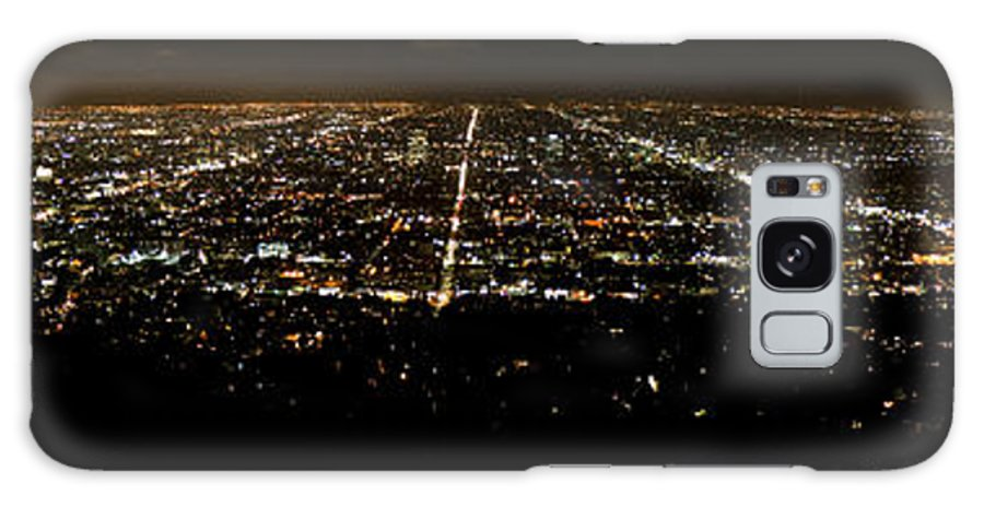 Los Angeles Galaxy S8 Case featuring the photograph Los Angeles At Night by Mark Schumpert