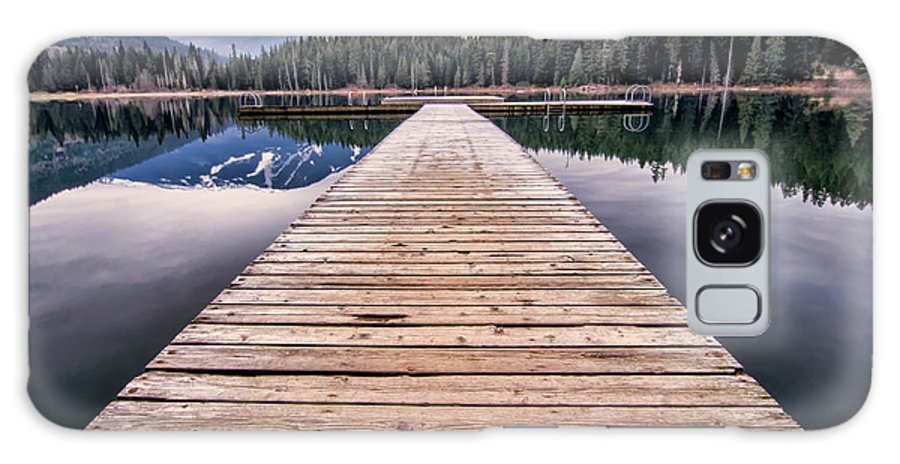 Beautiful Galaxy S8 Case featuring the photograph Lost Lake Dock by James Wheeler