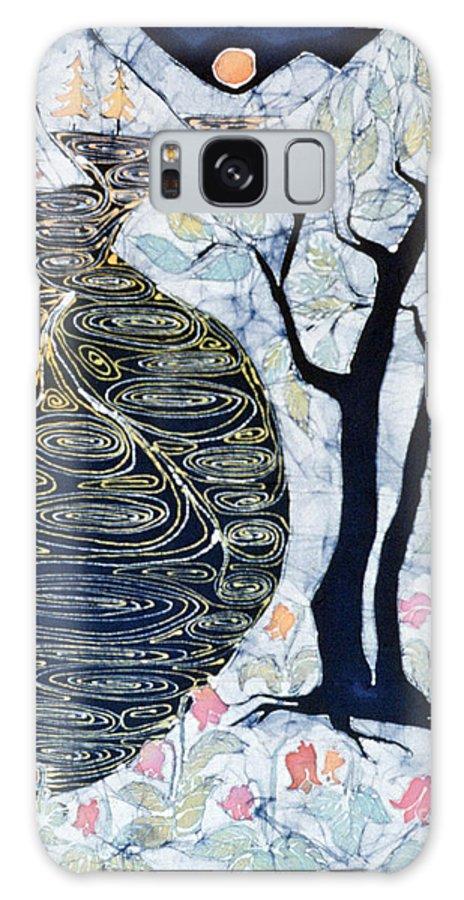 Lothlorien Galaxy S8 Case featuring the tapestry - textile Lothlorien by Carol Law Conklin
