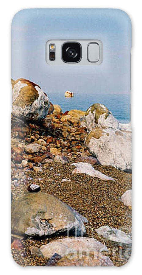 Dead Sea Galaxy S8 Case featuring the photograph Lot's Wife by Kathy McClure