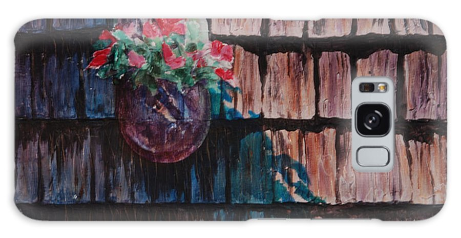 Floral Galaxy S8 Case featuring the painting Louie's House II by Heidi E Nelson