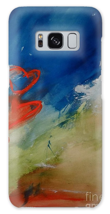 Hearts Galaxy S8 Case featuring the painting Love Gives You Wings by Susi Schreiner-Suiter