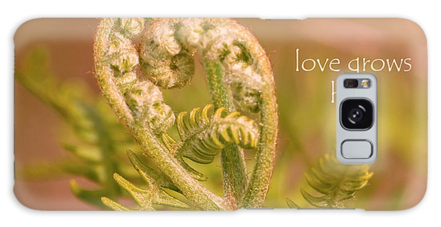 Fern Galaxy S8 Case featuring the photograph Love Grows Here by Peggy Collins