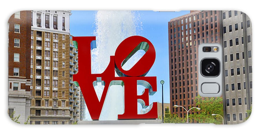 Love Park Galaxy S8 Case featuring the photograph Love In The Park by Patrick Meek
