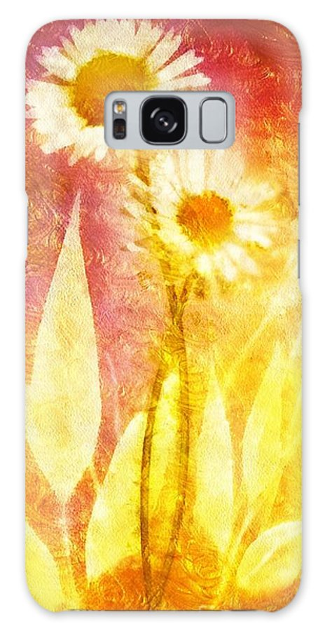 Love Me Tender Galaxy S8 Case featuring the painting Love Me Tender Gold by Mo T