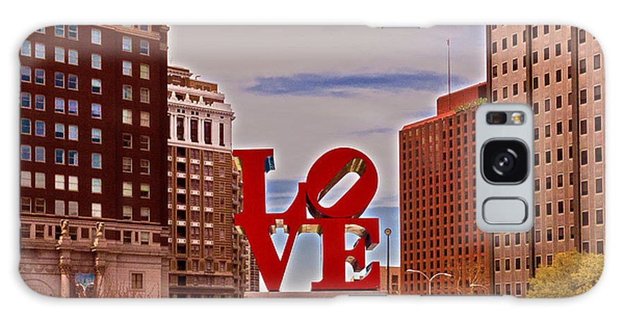 City Galaxy S8 Case featuring the photograph Love Sculpture - Philadelphia - 2 by Lou Ford