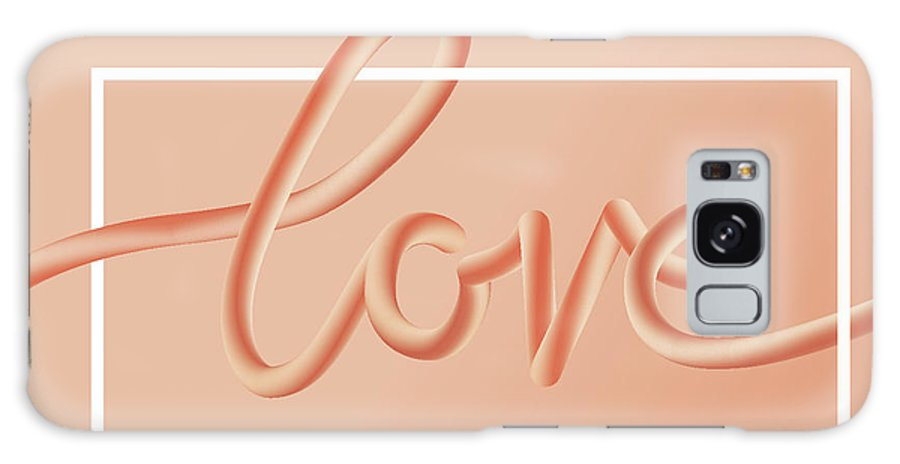 Home Decor Galaxy Case featuring the digital art Love Text Lettering In Red Color by Apagafonova