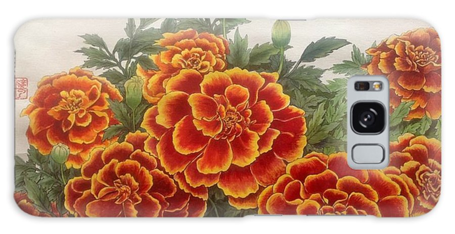 Marigold Flower Galaxy S8 Case featuring the painting Love You by YongWoon Suh