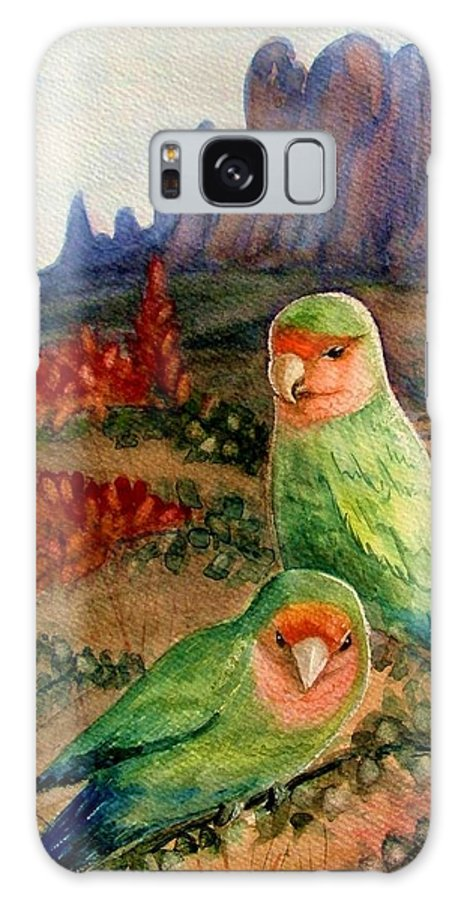 Birds Galaxy S8 Case featuring the painting Lovebirds by Marilyn Smith