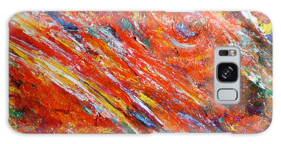 Abstract Galaxy S8 Case featuring the painting Loves Fire by Michael Durst