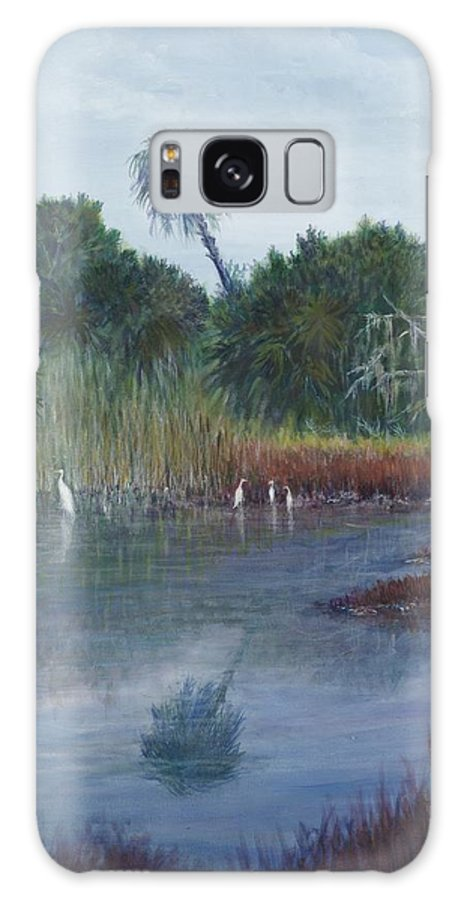 Landscape Galaxy S8 Case featuring the painting Low Country Social by Ben Kiger