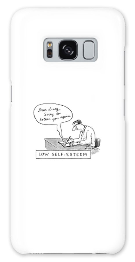 Psychology Galaxy Case featuring the drawing Low Self-esteem 'dear Diary by Mike Twohy