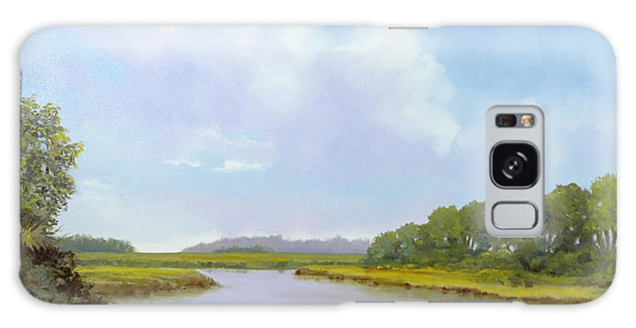 St. Simons Galaxy Case featuring the painting Lowcountry Afternoon by Glenn Secrest
