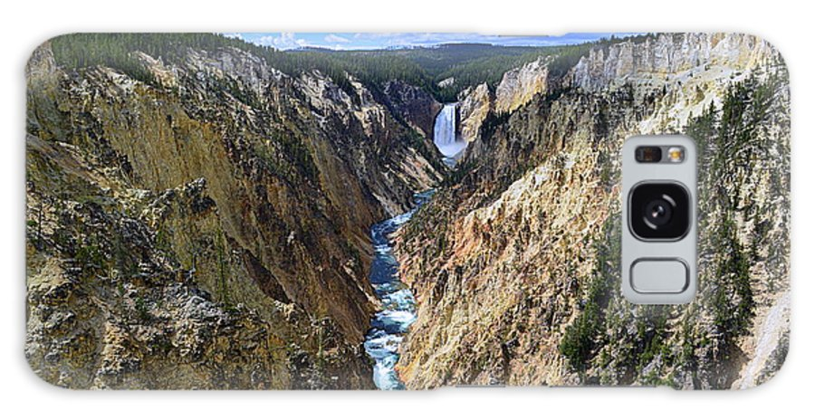 Lower Yellowstone Falls Galaxy S8 Case featuring the photograph Lower Yellowstone Falls Panorama by Catherine Sherman