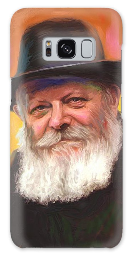 Lubavitcher Rebbe Galaxy Case featuring the painting Lubavitcher Rebbe by Sam Shacked