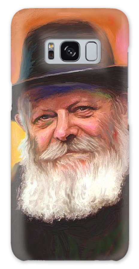 Lubavitcher Rebbe Galaxy S8 Case featuring the painting Lubavitcher Rebbe by Sam Shacked