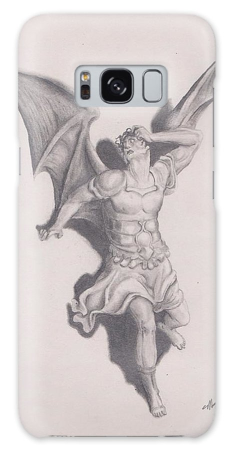 Lucifer Satan Drawing Paradise Lost Galaxy S8 Case featuring the drawing Lucifer by Crosson Nipper