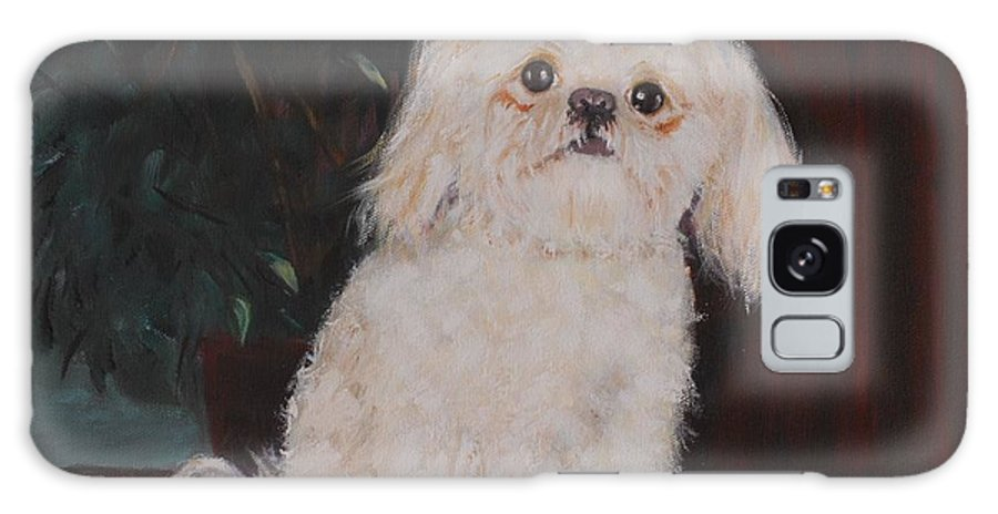 Dog Galaxy Case featuring the painting Lulu by Quwatha Valentine