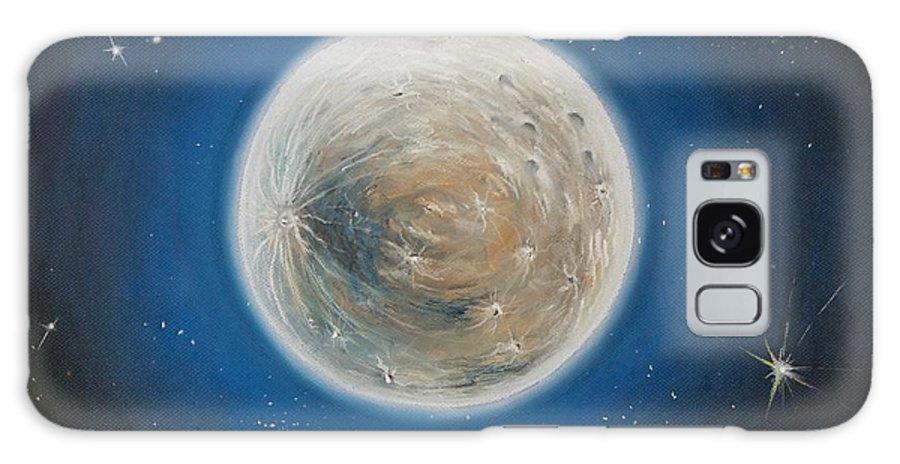 La Luna Galaxy S8 Case featuring the pastel Luna by Katharina Filus